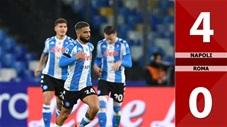 Napoli 4 - 0 Roma (Vòng 9 Serie A 2020/21)