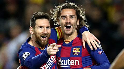 Barca thi đấu chật vật ở La Liga nhưng lại thăng hoa ở Champions League