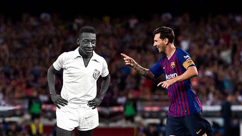 Messi chỉ còn cách kỷ lục của Pele 2 bàn