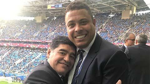 Maradona từng tặng Ronaldo món quà đặc biệt