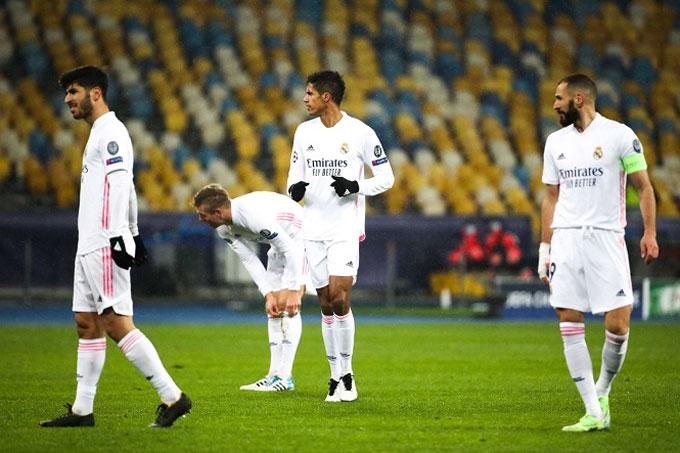 Real đang đối diện nguy cơ bị loại khỏi Champions League