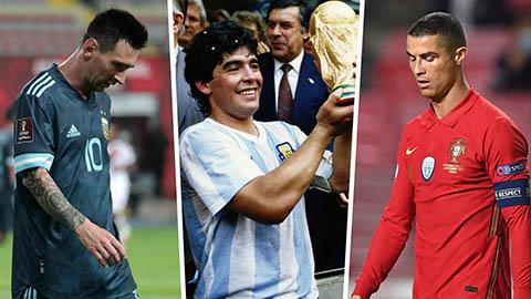 Messi, Cristiano Ronaldo không thể bằng được Diego Maradona