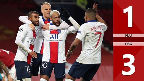 M.U 1-3 PSG: Neymar lập cú đúp, PSG đưa M.U trở lại mặt đất