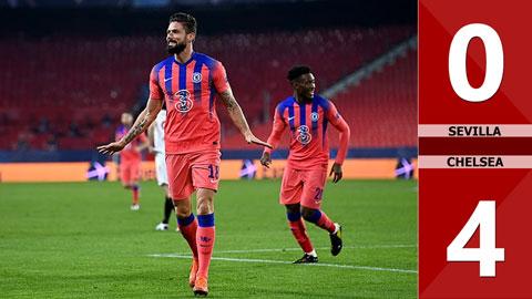 Sevilla 0-4 Chelsea: Cú poker của Giroud