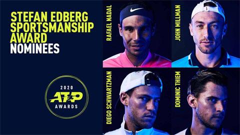 Nadal được đề cử giải thưởng danh giá của ATP
