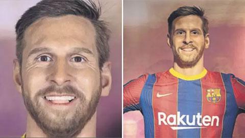Tượng sáp Messi trong bảo tàng Barca bị đàm tiếu