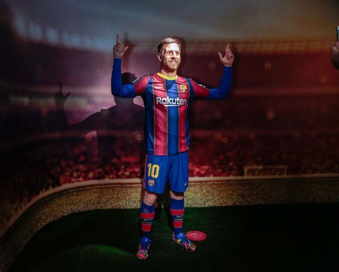 Tượng sáp của Messi đặt tại bảo tàng của Barca