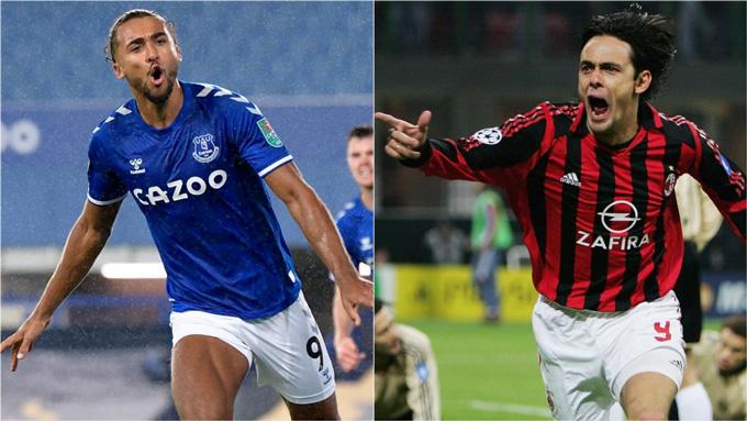 Calvert-Lewin, chân sút đang dẫn đầu danh sách ghi bàn tại Ngoại hạng Anh vẫn được so sánh với Inzaghi