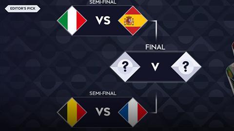 Bốc thăm bán kết Nations League 2021: Italia vs Tây Ban Nha, Bỉ vs Pháp