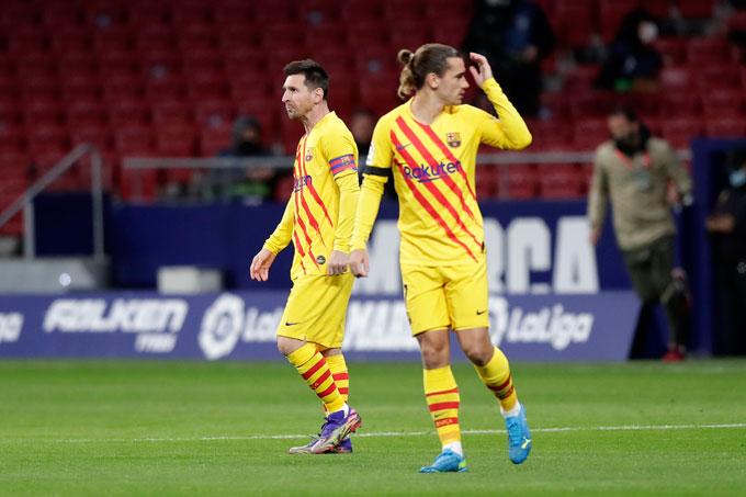 Barca đang đứng thứ 7 tại La Liga khi Messi không còn sung mãn còn các tân binh như Griezmann chưa thực sự tỏa sáng