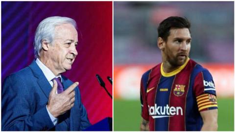 Chủ tịch tạm quyền của Barca thừa nhận muốn bán Messi