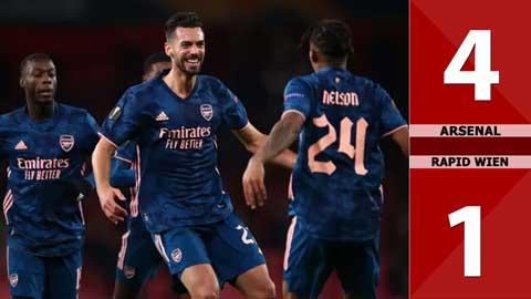 Arsenal 4-1 Rapid Wien: Đánh bại kẻ yếu thế