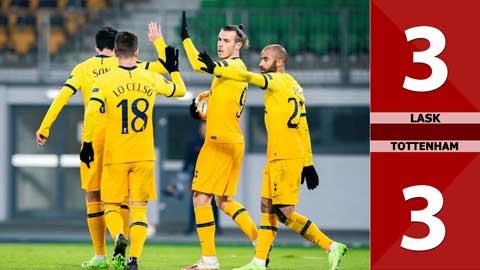 LASK 3-3 Tottenham: Rượt đuổi kịch tính, đoàn quân Mourinho có vé đi tiếp