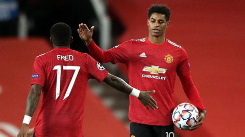 Fred bị loại ở trận đấu với West Ham, Rashford chưa rõ khả năng ra sân