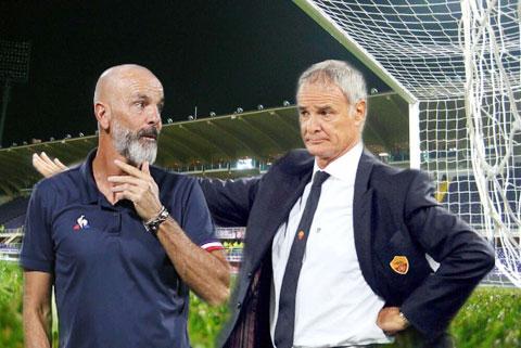 10 năm qua, dù dẫn dắt đội bóng lớn nhỏ thế nào, Ranieri (phải) vẫn không thể thắng được Pioli