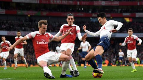 Son Heung Min (áo trắng) và đồng đội sẽ tiễn Arsenal ra về trắng tay