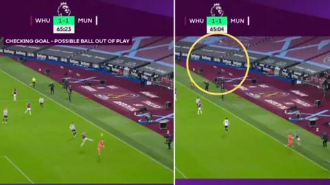 VAR lại một lần nữa đứng về phía M.U trong trận thắng ngược West Ham