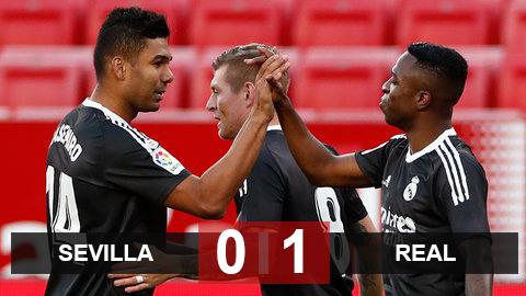 Kết quả Sevilla 0-1 Real: Thi đấu bế tắc, Real vẫn may mắn giành trọn 3 điểm