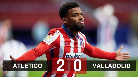 Kết quả Atletico 2-0 Valladolid: Đánh chiếm ngôi đầu