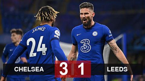 Kết quả Chelsea 3-1 Leeds: The Blues dẫn đầu Ngoại hạng Anh