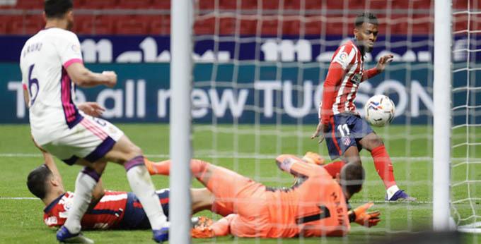 Lemar với bàn thắng mở tỷ số vào lưới Valladolid