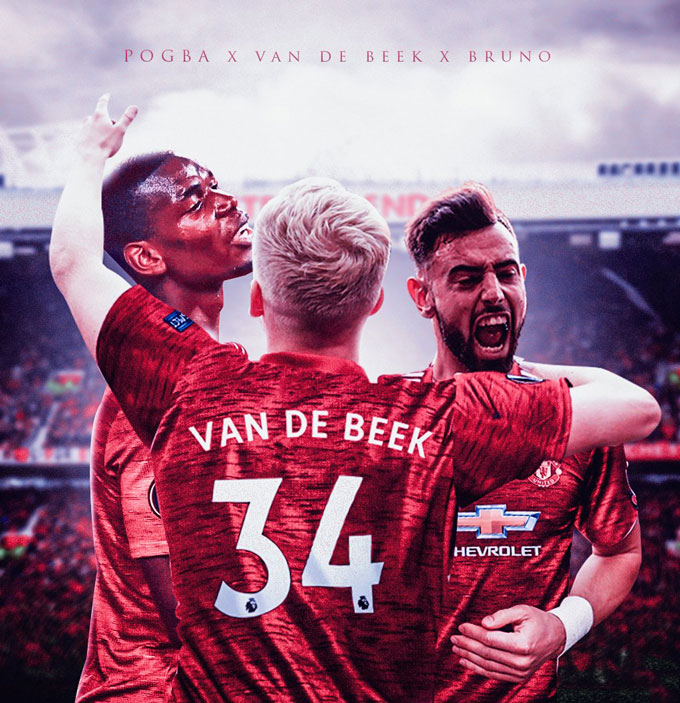 NHM kỳ vọng Van de Beek có thể kết hợp tốt cùng Pogba và Fernandes để tạo nên hàng tiền vệ cực mạnh cho M.U