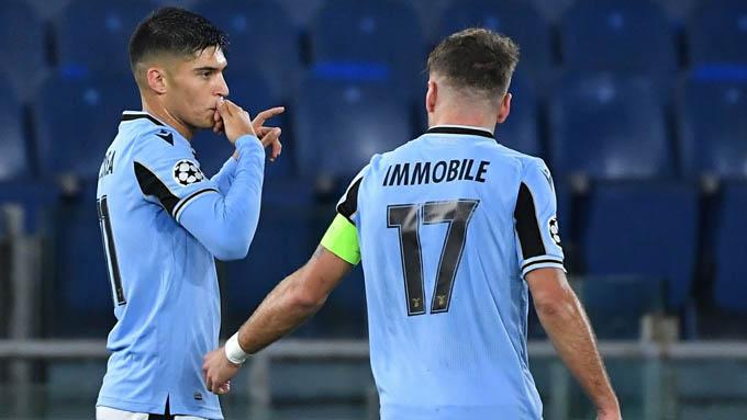 Correa ghi bàn mở tỷ số cho Lazio ở trận gặp Club Brugge