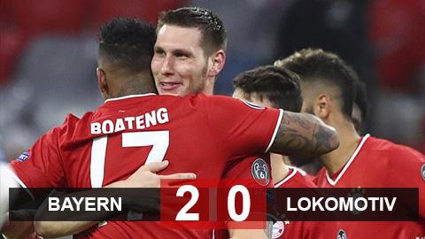 Kết quả Bayern 2-0 Lokomotiv Moscow: Vắng Lewandowski, Hùm xám vẫn thắng dễ