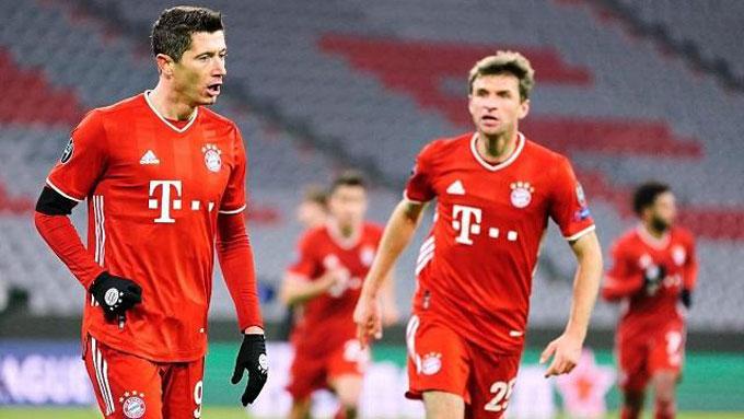 Bayern vẫn thể hiện sức mạnh vô đối