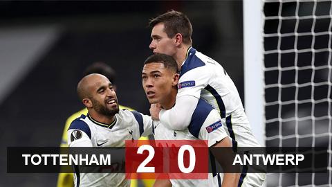 Kết quả Tottenham 2-0 Royal Antwerp: Tottenham B xuất sắc chiếm ngôi đầu bảng