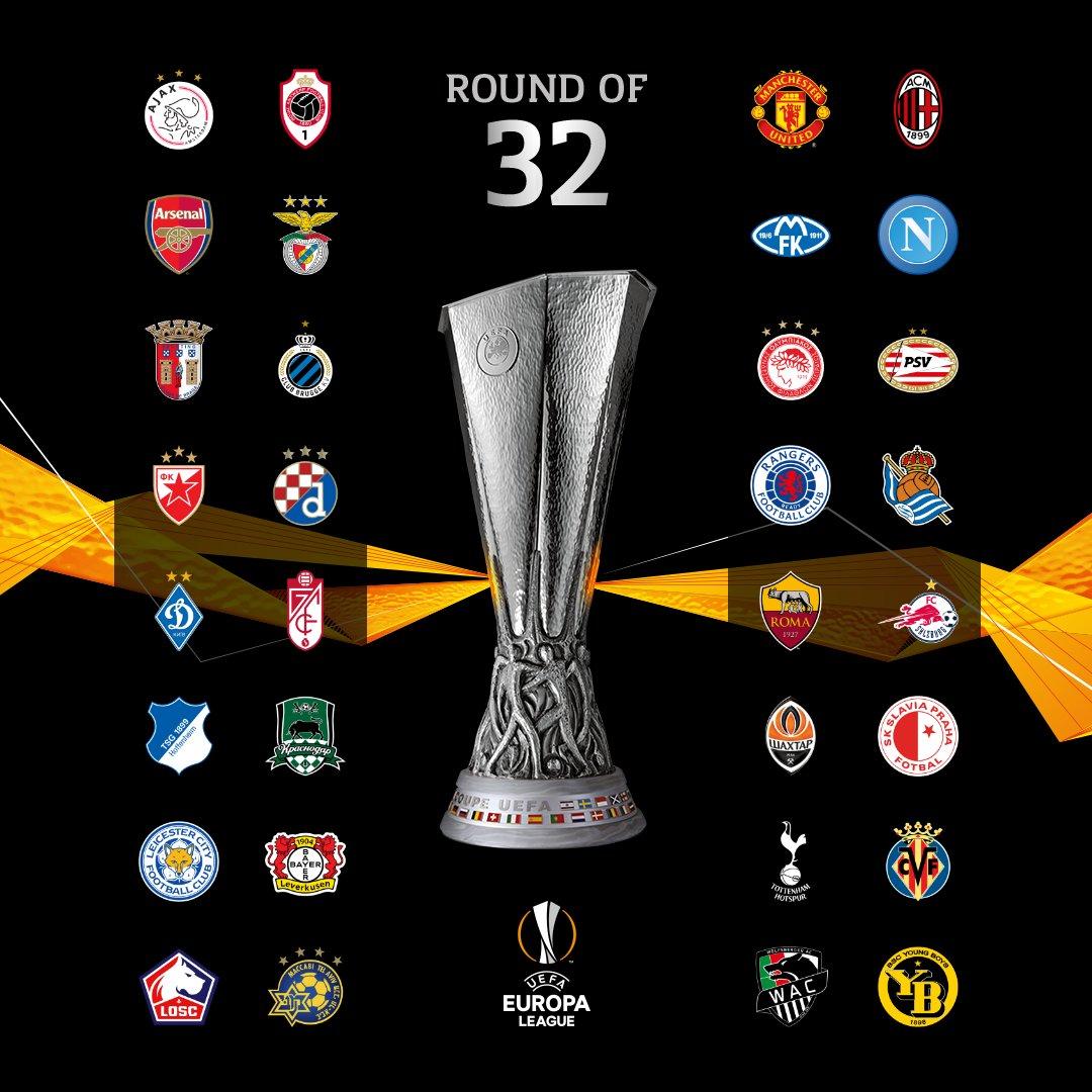 Những đội giành vé vào vòng 1/16 Europa League