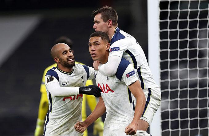 Tottenham có chiến thắng quan trọng để giành vé vào vòng knock-out Europa League 2020/21