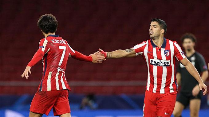 Felix và Suarez đang chơi rất ăn ý ở Atletico