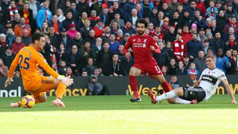 """Mohamed Salah sẽ xé lưới Fulham để giúp Liverpool có chiến thắng thứ 19 liên tiếp trước các đội """"tân binh"""" của Premier League"""