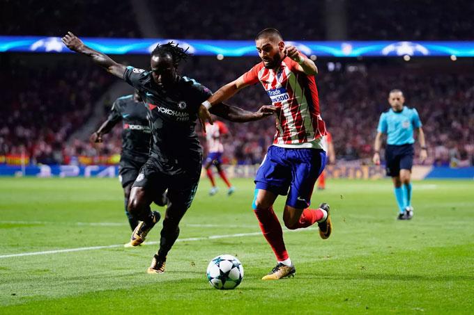 Thành tích đối đầu giữa Atletico và Chelsea khá cân bằng