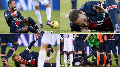 Neymar dính chấn thương kinh hoàng, gào khóc, rời sân bằng cáng