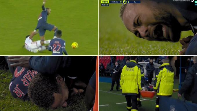 Neymar gặp chấn thương sau pha vào bóng thô bạo của Thiago