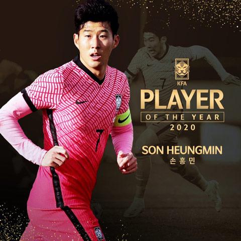 Son được vinh danh là cầu thủ xuất sắc nhất Hàn Quốc lần thứ 5 trong sự nghiệp