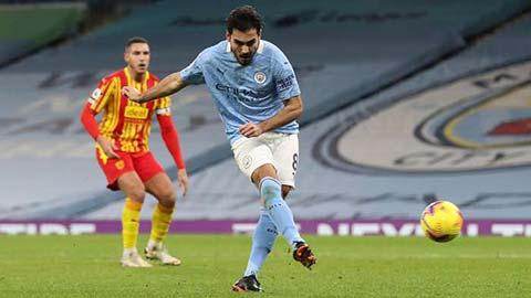 Guendogan ghi bàn duy nhất cho Man City