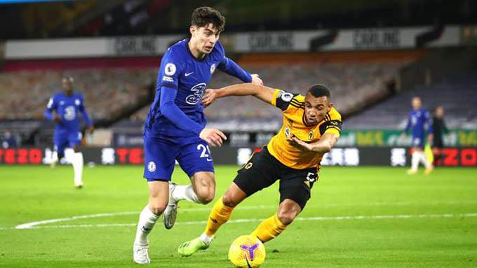 Chelsea đã có trận đấu thất vọng trước Wolves
