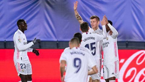 Kroos ăn mừng bàn thắng mở tỷ số cho Real trước Bilbao rạng sáng qua