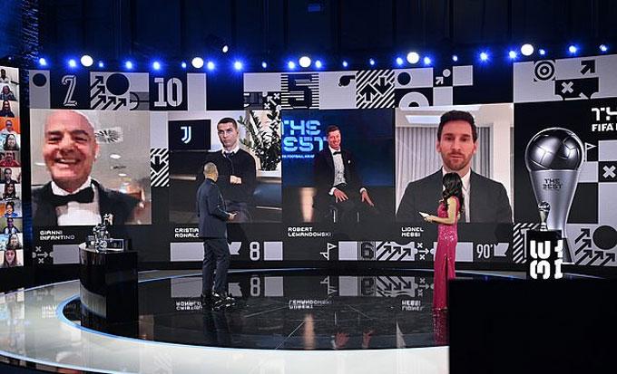 Vẻ mặt khó coi của Ronaldo ở The Best 2020
