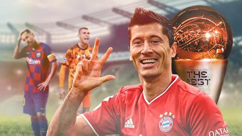 Messi và Ronaldo, ai đứng sau Lewandowski ở FIFA The Best 2020?