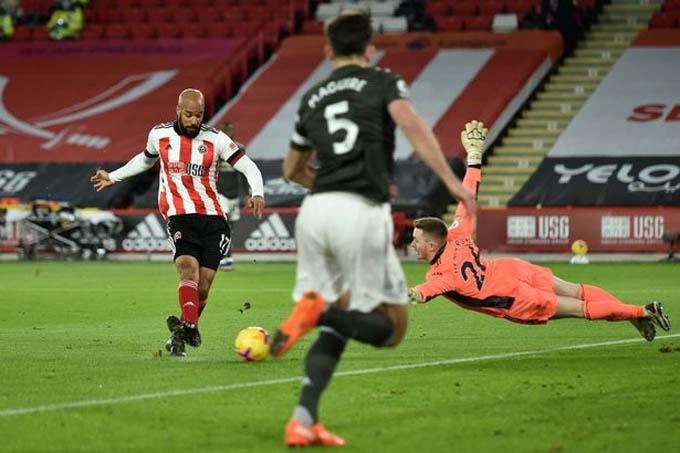 Henderson đã mắc sai lầm trong trận gặp Sheffield United