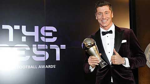 Đánh bại Messi và Ronaldo, Lewandowski giành giải FIFA The Best 2020