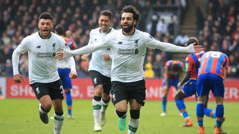 Salah (phải) và đồng đội sẽ đánh bại Crystal Palace để ngắt mạch 5 trận sân khách gần nhất không thắng ở Premier League