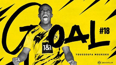 Youssoufa Moukoko - cầu thủ ghi bàn trẻ nhất lịch sử Bundesliga