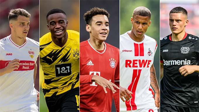 Thế hệ tài năng tiếp theo của Bundesliga bao gồm Wirtz (thứ 5) vs Musiala (thứ 3)