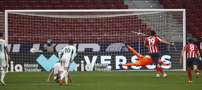Costa ấn định tỷ số 3-1 trận Atletico vs Elche