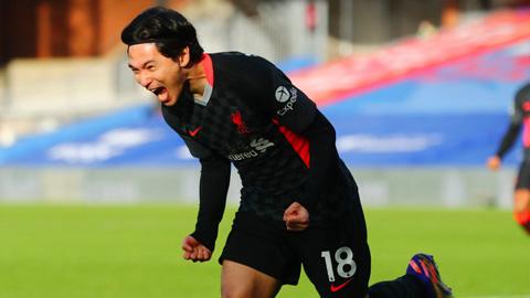 Minamino có bàn đầu tiên tại Premier League sau đúng 1 năm gia nhập Liverpool